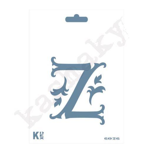 "Stencil  DIN A6 Inicial ""Z"" - ST-6026-A6"