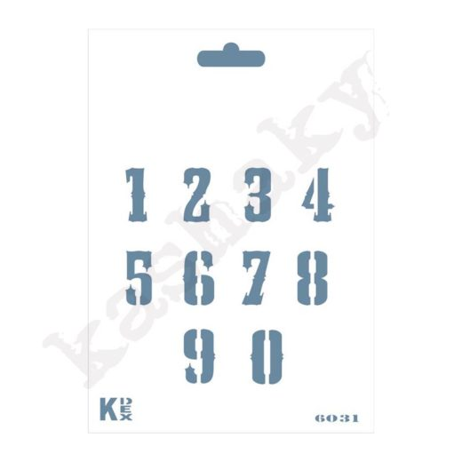 Stencil DIN A6 números Vintage - ST-6031-A6