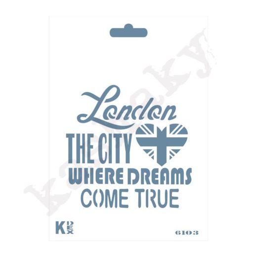 "Stencil DIN A6 ""London"" - ST-6103-A6"