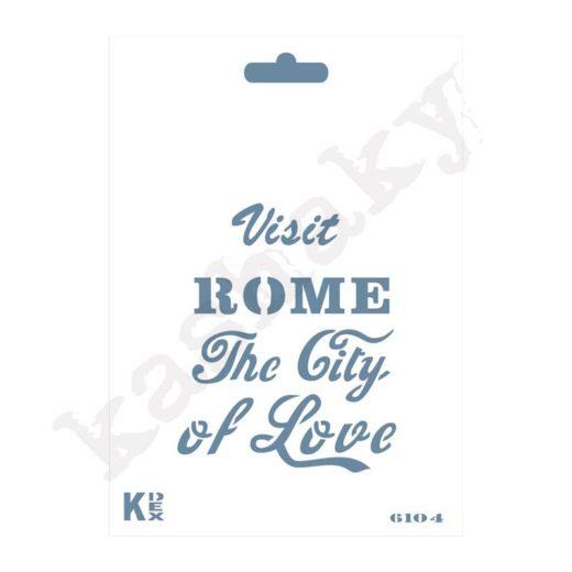 "Stencil DIN A6 ""Roma"" - ST-6104-A6"