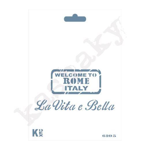 "Stencil DIN A6 ""Italy"" - ST-6105-A6"