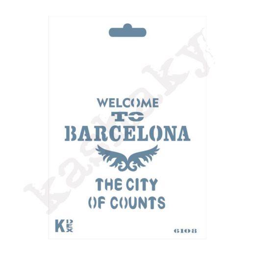 "Stencil DIN A6 ""Barcelona"" - ST-6108-A6"