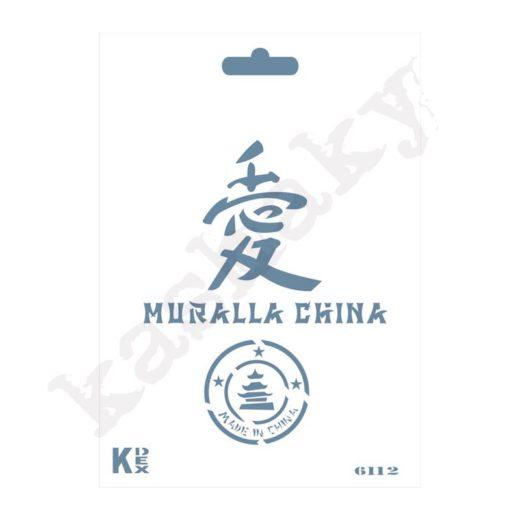 "Stencil DIN A6 ""China"" - ST-6112-A6"