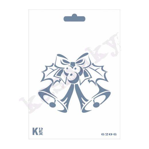 """Stencil DIN A6 """"Navidad campanas"""" - ST-6206-A6"""