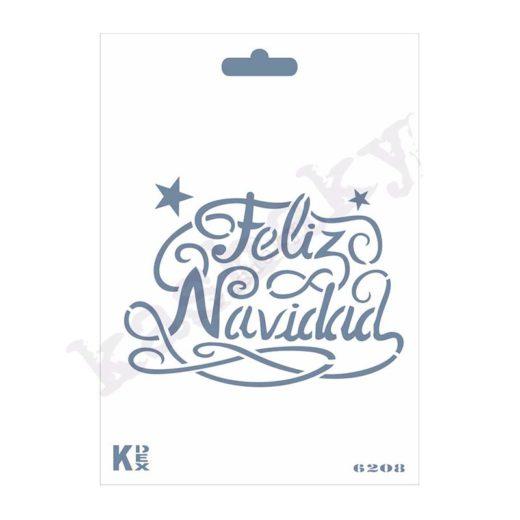 "Stencil DIN A6 ""Feliz Navidad "" - ST-6208-A6"