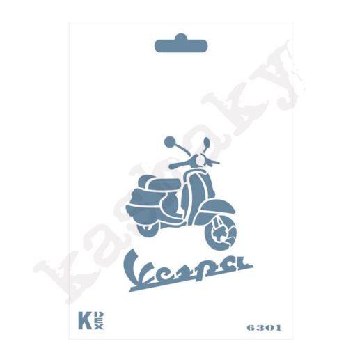 "Stencil DIN A6 ""Vespa"" - ST-6301-A6"