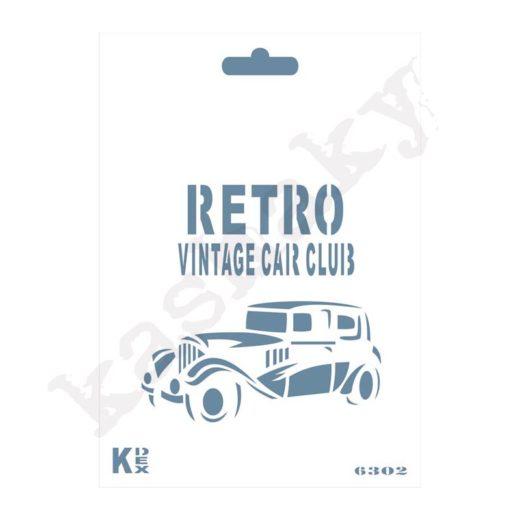 """Stencil DIN A6 """"Retro"""" - ST-6302-A6"""