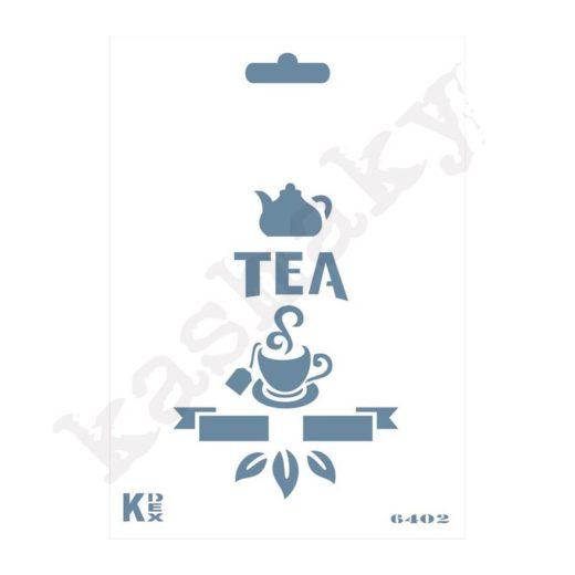 """Stencil DIN A6 """"Tea"""" - ST-6402-A6"""