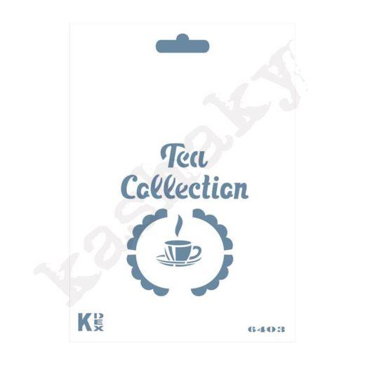 "Stencil DIN A6 ""Tea collection"" - ST-6403-A6"