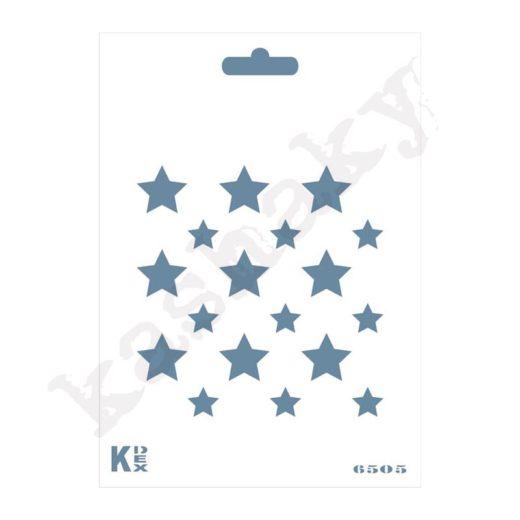 "Stencil DIN A6 ""Estrellas"" - ST-6505-A6"