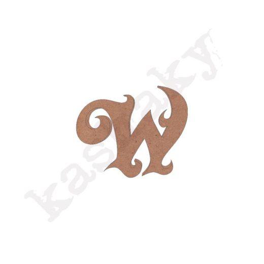 "ABECEDARIO ROSE MAYÚSCULA LETRA ""W"" - W1-001-ABC"
