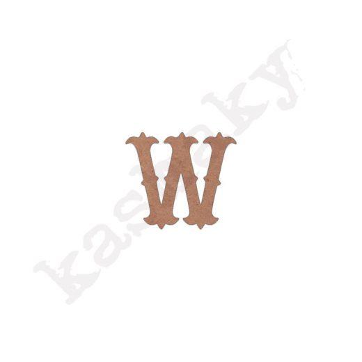 """ABECEDARIO """"VINTAGE"""" MAYÚSCULA LETRA """"W"""" - W1-003-ABC"""