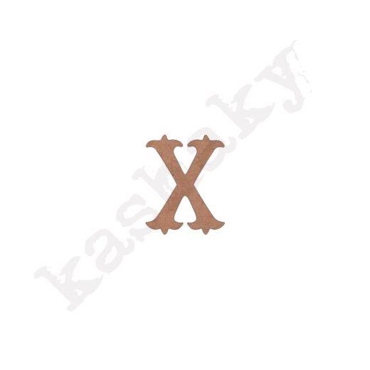 "ABECEDARIO ""VINTAGE"" MAYÚSCULA LETRA ""X"" - X1-003-ABC"