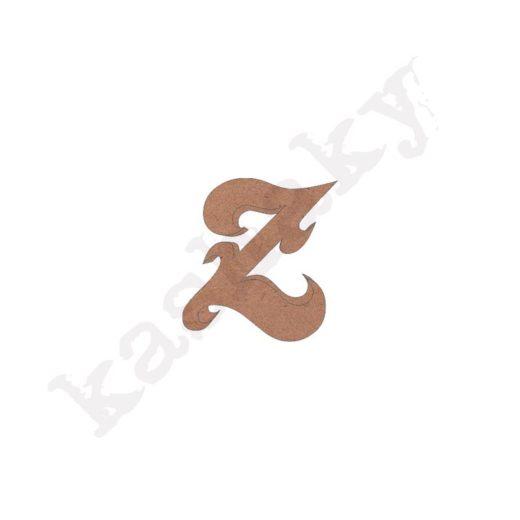 """ABECEDARIO ROSE MAYÚSCULA LETRA """"Z"""" - Z1-001-ABC"""