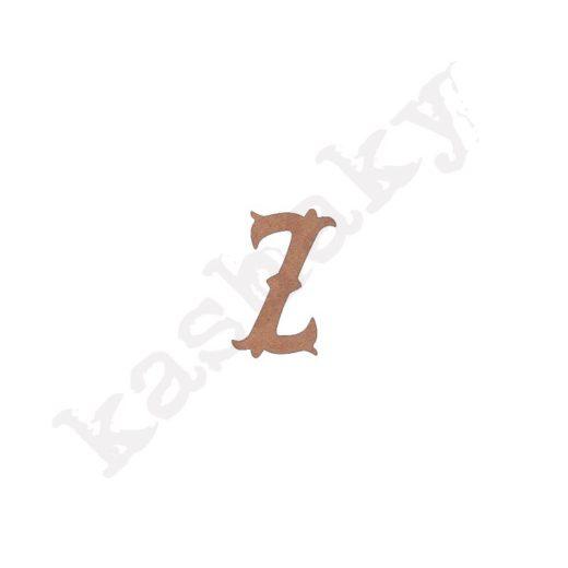 """ABECEDARIO """"VINTAGE"""" MAYÚSCULA LETRA """"Z"""" - Z1-003-ABC"""