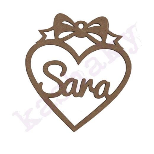 Bola navidad corazon Sara